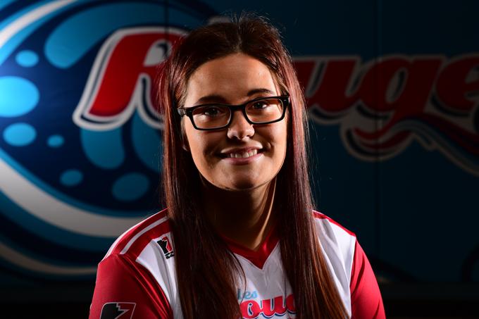 Raegan Caron, capitaine de l'équipe de volleyball féminin des Rouges