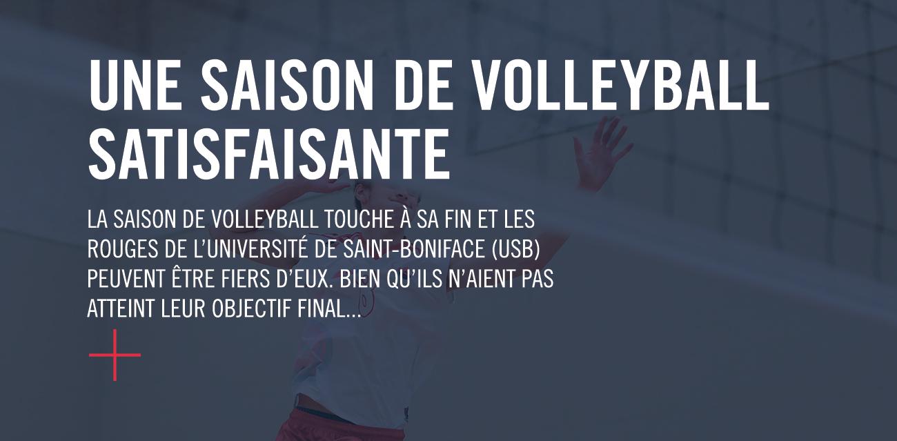 Une saison de volleyball satisfaisante