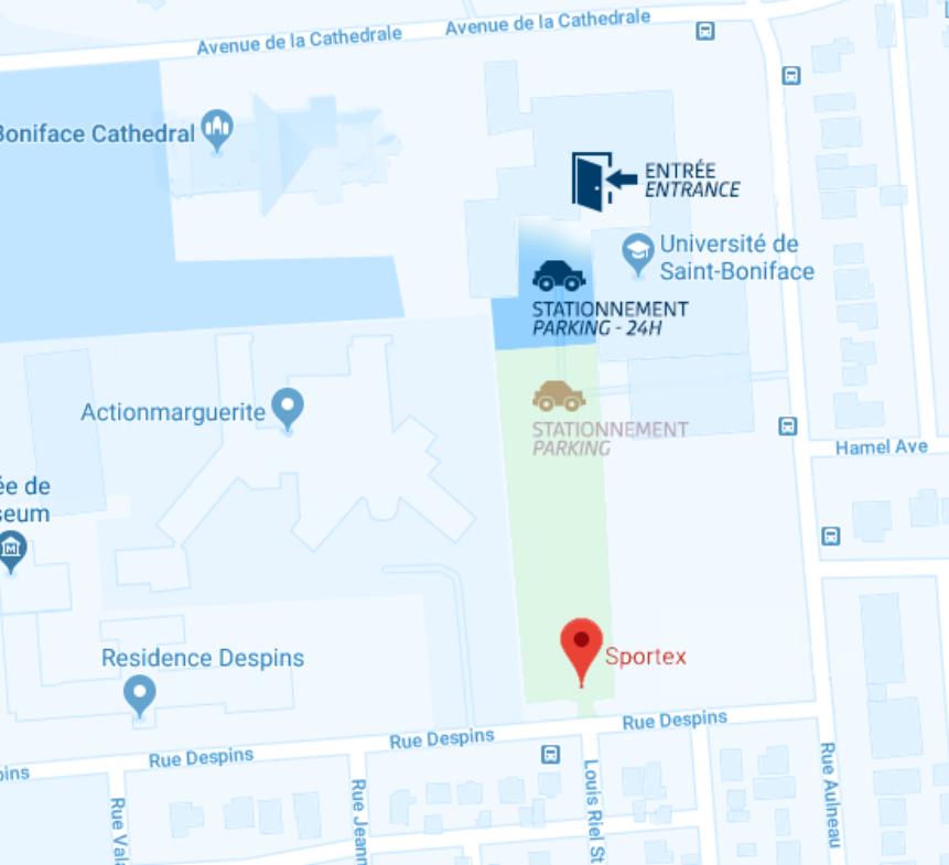 Carte - Stationnement Sportex