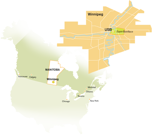 carte de Winnipeg