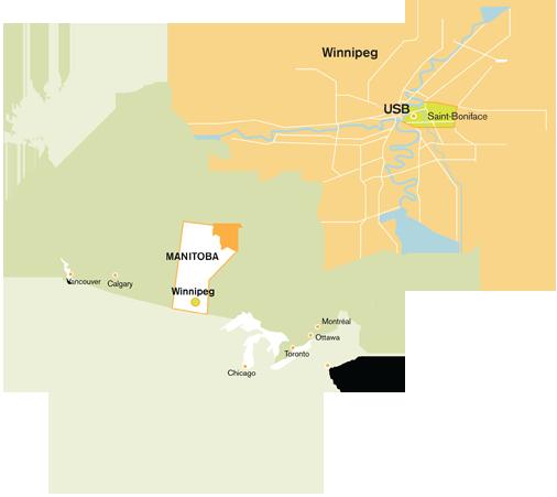 carte de Winnipeg